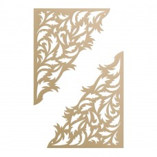 Couture Creations Special Occasions - Die - Gold Leaf Corner Set (2pc)