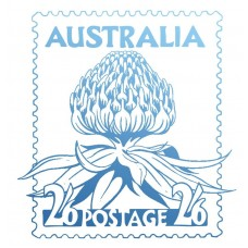 Couture Creations Sunburnt Country - Mini Stamp - Warratah Postage Stamp