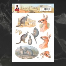 Couture Creations Sunburnt Country 3D Diecut Decoupage - Boomer