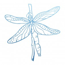Couture Creations Sunburnt Country - Mini Stamp - Dragonfly