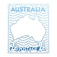 Couture Creations Sunburnt Country - Mini Stamp - Australia Postage Stamp