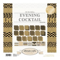 Ultimate Crafts Paper Pad - TR - Evening Cocktail 12x12 (24 dbl sheets - incl 4 x foiled, 2 x die cut)
