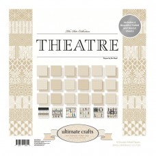 Ultimate Crafts Paper Pad - TR - Theatre 12x12 (24 dbl sheets - incl 4 x foiled, 2 x die cut)