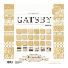 Ultimate Crafts Paper Pad - TR - Gatsby 12x12 (24 dbl sheets - incl 4 x foiled, 2 x die cut)