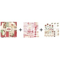 Couture Creations The Gift of Giving Set - Paper Pad + Ephemera Set + Die Cut Sentiments
