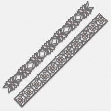 Couture Creations Die - TT - Simplicity Borders (2) - 300 x 30mm