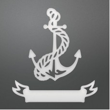 Couture Creations Die - SE - Decorative Tied Anchor & Banner