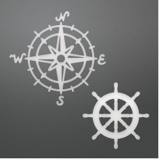 Couture Creations Die - SE - Decorative Compass & Wheel
