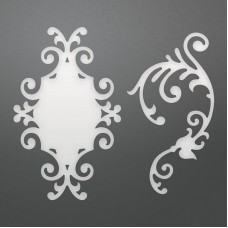 Couture Creations Die - SE - Decorative Sandy Frame & Flourish