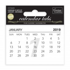 Couture Creations Calendar Tabs 2019