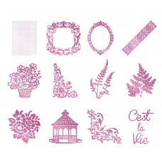 Couture Creations Hotfoil - Bohemian Bouquet - Kit 1 of each hotfoil stamp & foil 5 pack - 5% disc
