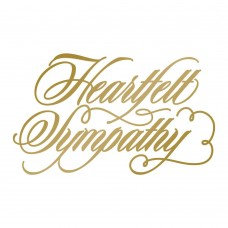 Couture Creations Hotfoil Stamp - AG - Heartfelt Sympathy