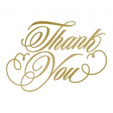 Couture Creations Hotfoil Stamp - AG - Thank You