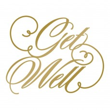 Couture Creations Hotfoil Stamp - AG - Get Well
