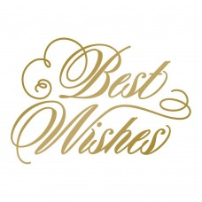 Couture Creations Hotfoil Stamp - AG - Best Wishes