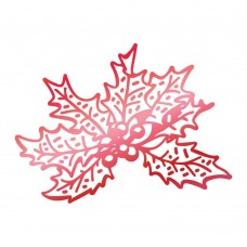 Couture Creations Christmas Holly Hotfoil Stamp 57 x 42mm