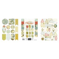 Couture Creations Let Every Day Be Christmas A4 Paper Pad  + Tag Stickers Bundle Pack