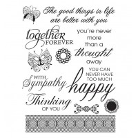 Couture Creations Stamp Set - OL - Happy Lives (4 x 6in)