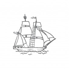 Couture Creations Mini Stamp - SM - Tall Ship (1pc)