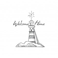 Couture Creations Mini Stamp - SM - Welcome Lighthouse (1pc)