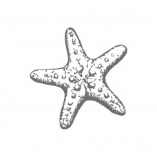 Couture Creations Mini Stamp - SM - Starfish (1pc)