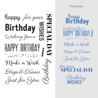 Couture Creations Stamp Set Sentiments - Happy Birthday (16pc) - 80 x 116mm
