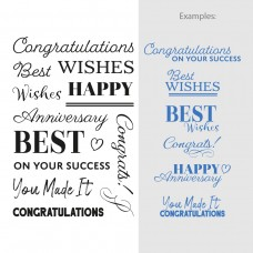 Couture Creations Stamp Set Sentiments - Congratulations (14pc) - 80 x 116mm