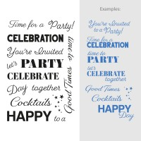 Couture Creations Stamp Set Sentiments - Celebrations (15pc) - 80 x 116mm