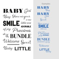 Couture Creations Stamp Set Sentiments - Bundle of Joy (17pc) - 80 x 116mm