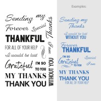 Couture Creations Stamp Set Sentiments - My Thanks (20pc) - 80 x 116mm