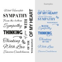 Couture Creations Stamp Set Sentiments - With Sympathy (16pc) - 80 x 116mm