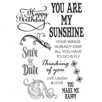 Couture Creations Stamp Set - OL - Sunshine Flourishes (4 x 6in)