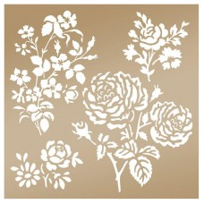 Couture Creations Stencil - AG - Secret Garden Damask