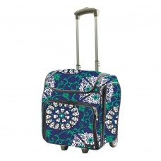 Couture Creations Tote Trolley Bag - Blue Damask