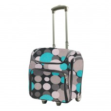 Couture Creations Tote Trolley Bag - Blue / Grey Spots