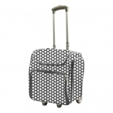 Couture Creations Tote Trolley Bag - White Spots