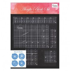 Couture Creations Acrylic Block Set with grid lines (5 pc / 8mm deep)