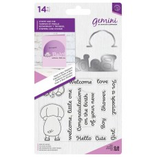 Crafter's Companion Gemini - Stamp & Die - Peek-A-Boo Elephant