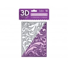 Crafter's Companion 3D Embossing Folder - Regency Swirls