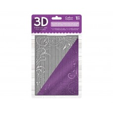 "Crafter's Companion 3D Embossing Folder - 5""x7"" - Textured Swirls"