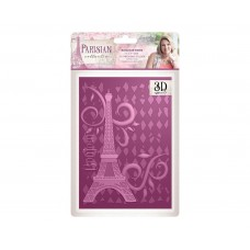 Crafter's Companion Parisian - 3D Embossing Folder - Bonjour Paris