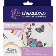 Crafter's Companion Threaders - Embroidery Kit - Flutterby