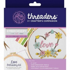Crafter's Companion Threaders - Embroidery Kit - Love