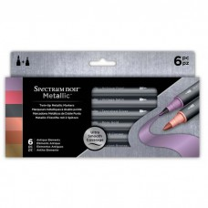 Crafter's Companion Spectrum Noir - Metallic Markers (6pk) - Antique Elements