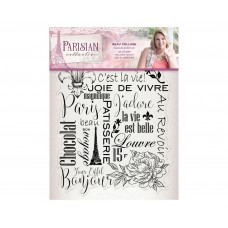 Crafter's Companion Parisian - Acrylic Stamp - Beau Collage