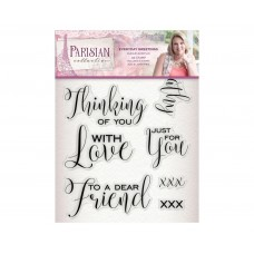 Crafter's Companion Parisian - Acrylic Stamp - Everyday Greetings