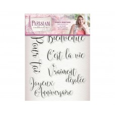 Crafter's Companion Parisian - Acrylic Stamp - French Greetings