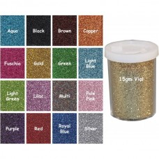 Craftworkz Glitter - Ultra Fine - 15 grams Tub You Choose Colour