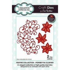 Creative Expressions Die Festive Collection Poinsettia Cluster