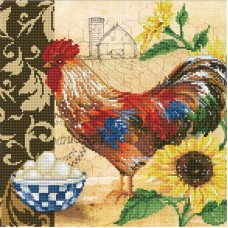 DIAMOND DOTZ COUNTRY ROOSTER 49 x 49cm